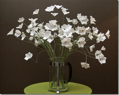 Белый цветок своими руками