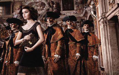 Дэвид Боуи и Аризона Мьюз в промо-кампании Louis Vuitton