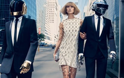 Карли Клосс и Daft Punk для Vogue US