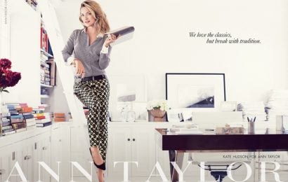 Кейт Хадсон в кампании сезона осень-зима 2013/14 Ann Taylor