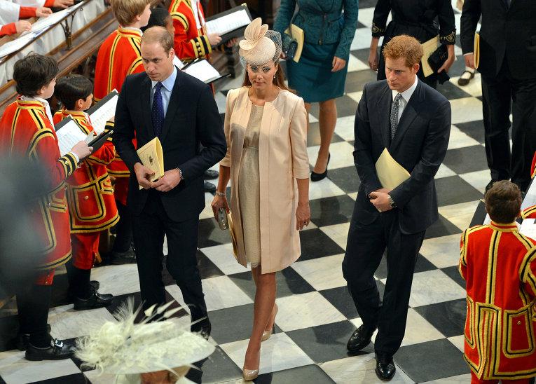 Высший свет Британии на торжественной службе в Вестминстерском аббатстве