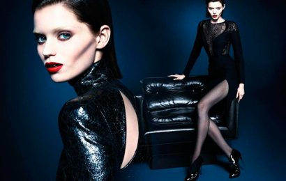 Промо-кампания Gucci осень-зима 2013/2014, при участии Эбби Ли Кершоу и Эдриена Сахореса